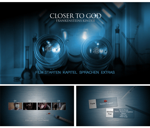 "05/2016 DVD Menü ""Closer To God"" . Science Fiction . USA . 2014"