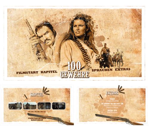 """08/2016 """"100 Gewehre"""" . Western . USA . 1969"""