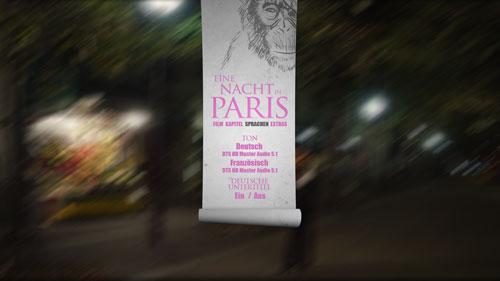 08/2017 Eine Nacht in Paris . Komödie . Frankreich